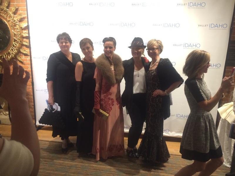 Beloved local fashion stylist Heather Schwabe, center, with her beautiful friends.