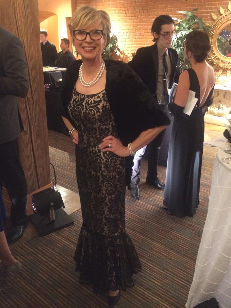 Stunning Wanda Lee Crowley, board member of the Ballet Idaho.