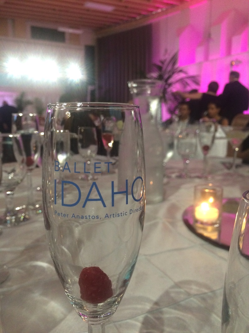 Personalized touches abound, right down to the champagne flutes!