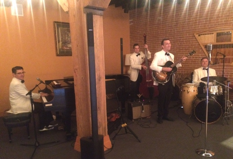 Beloved local Jazz & Swing band the Frim Fram 4 rocked the stage!