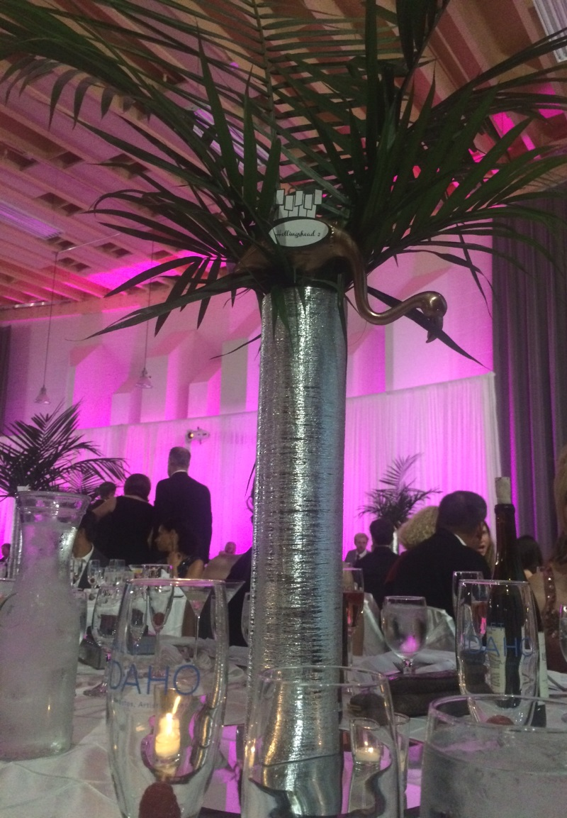 Personalized Centerpieces - a beautiful touch.