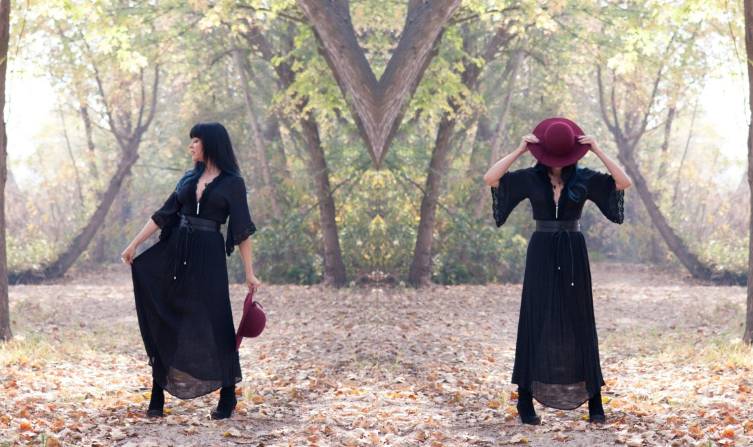 fall fashion maxi dress