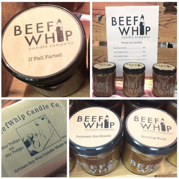 beef whip candles