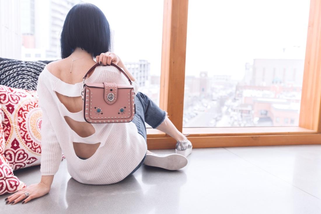 coach pink western rivets bag stylespygirl